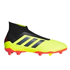 Adidas Predator 18+ Youth FG Soccer Cleats (Solar Yellow/Core Black/Solar Red)