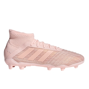 Adidas Predator 18.1 Youth FG Soccer Cleats (Clear Orange/Trace Pink)
