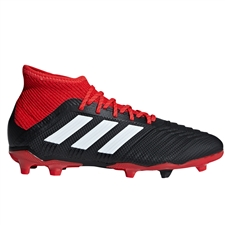 Adidas Predator 18.1 Youth FG Soccer Cleats (Black/White/Red)