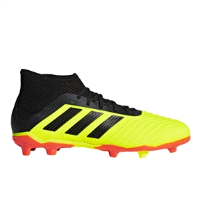 Adidas Predator 18.1 Youth FG Soccer Cleats (Solar Yellow/Core Black/Solar Red)