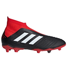 Adidas Predator 18+ Youth FG Soccer Cleats (Black/White/Red)