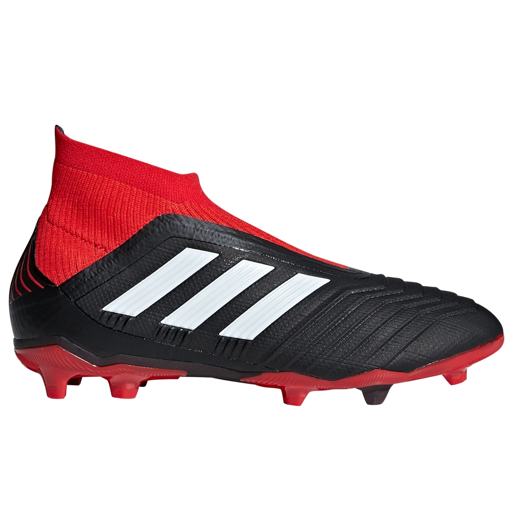 a0310c2ff1aa Adidas Predator 18+ Youth FG Soccer Cleats (Black White Red)