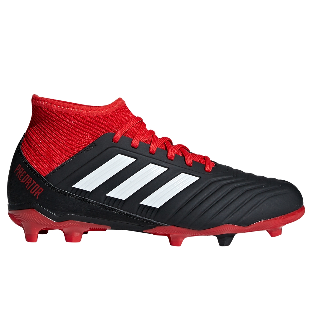 7da9e25c8c Adidas Predator 18.3 Youth FG Soccer Cleats (Black/White/Red)