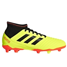 Adidas Predator 18.3 Youth FG Soccer Cleats (Solar Yellow/Core Black/Solar Red)