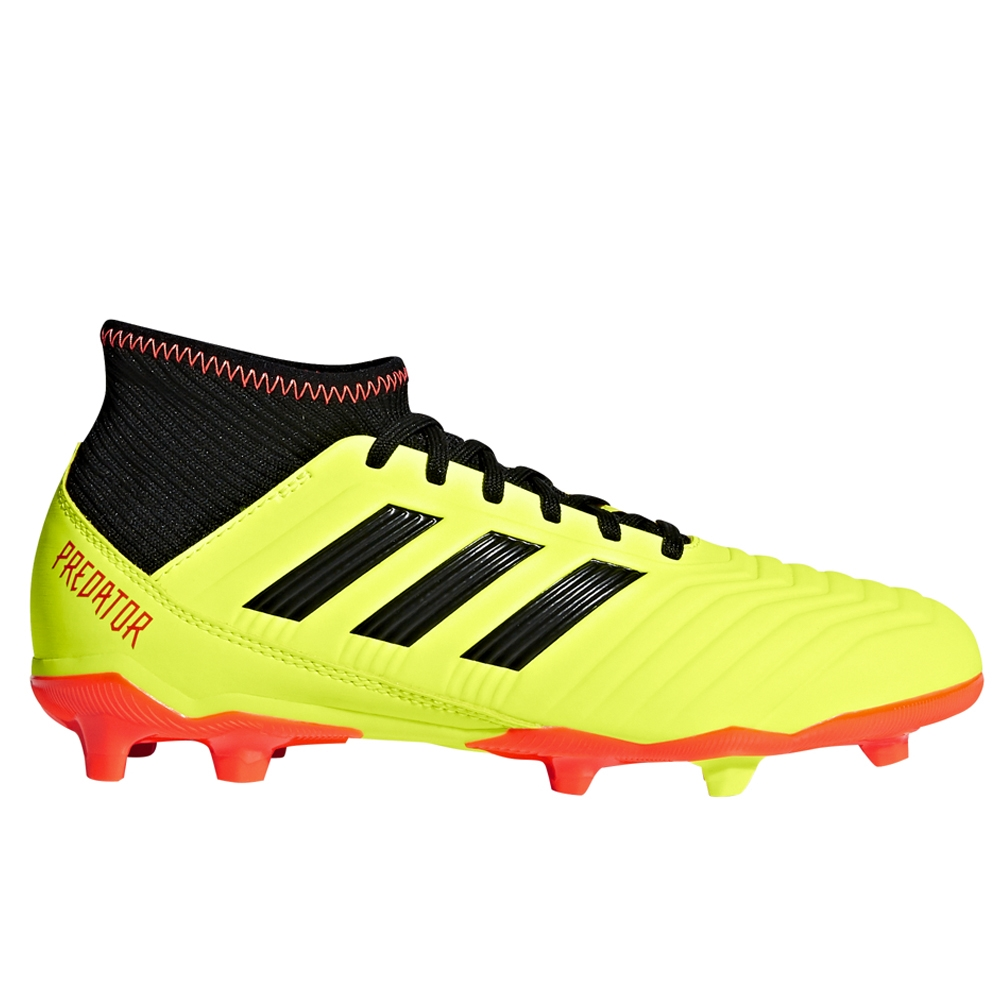 21ddab1fb Adidas Predator 18.3 Youth FG Soccer Cleats (Solar Yellow Core Black ...