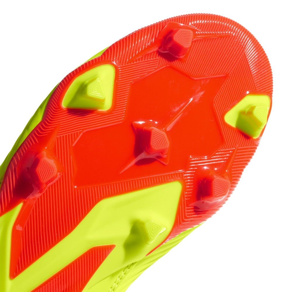 bf300a51d295 Adidas Predator 18.3 Youth FG Soccer Cleats (Solar Yellow Core Black Solar  Red)