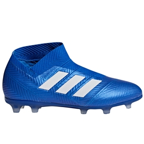 Adidas Nemeziz 18+ Youth FG Soccer Cleats (Football Blue/White) | Adidas DB2346