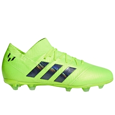 ... Adidas Nemeziz Messi 18.1 Youth FG Soccer Cleats (Solar Green Core  Black) ... d5539747636b
