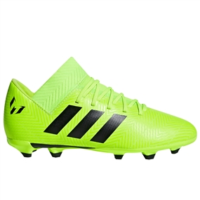 Adidas Nemeziz Messi 18.3 Youth FG Soccer Cleats (Solar Green/Core Black) | Adidas DB2367