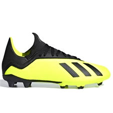 Adidas X 18.3 Youth FG Soccer Cleats (Solar Yellow/Black) | Adidas DB2418 |  SOCCERCORNER.COM