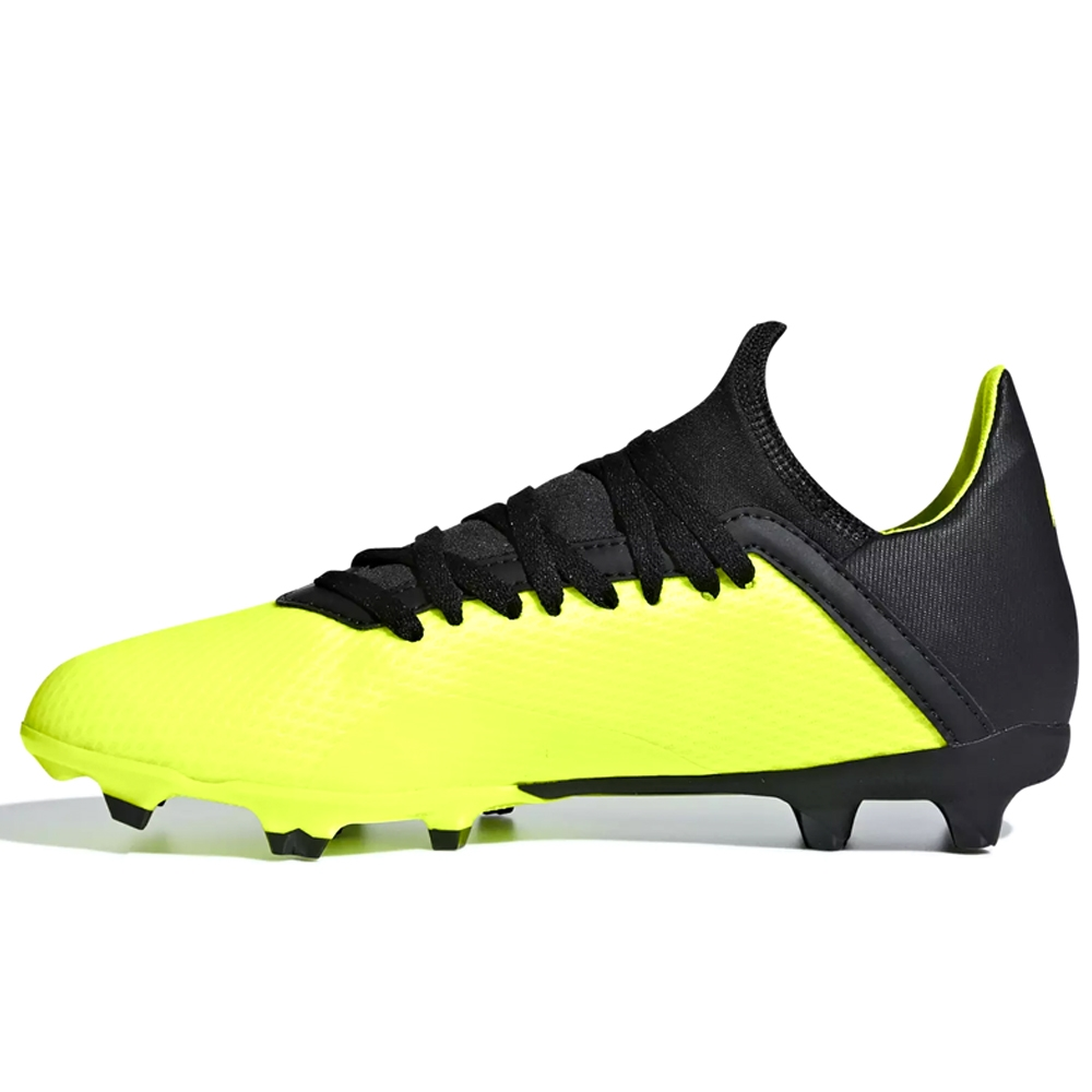 new product ce2b7 12242 Adidas X 18.3 Youth FG Soccer Cleats (Solar Yellow/Black)