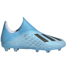 Adidas Youth X 19+ FG Soccer Cleats (Bright Cyan/Core Black/Shock Pink)