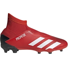 Adidas Youth Predator 20.3 Laceless FG Soccer Cleats (Active Red/White/Core Black)