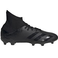 Adidas Youth Predator 20.3 FG Soccer Cleats (Core Black/Dark Grey Heather/Solid Grey)