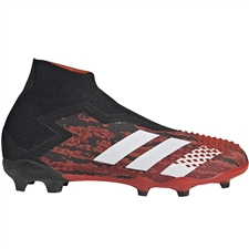 Adidas Youth Predator Mutator 20+ FG Soccer Cleats (Core Black/White/Active Red)