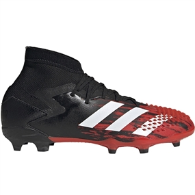 Adidas Youth Predator Mutator 20.1 FG Soccer Cleats (Core Black/White/Active Red)