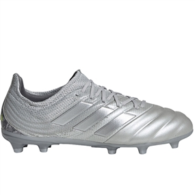 Adidas Youth Copa 20.1 FG Soccer Cleats (Silver Metallic/Solar Yellow)
