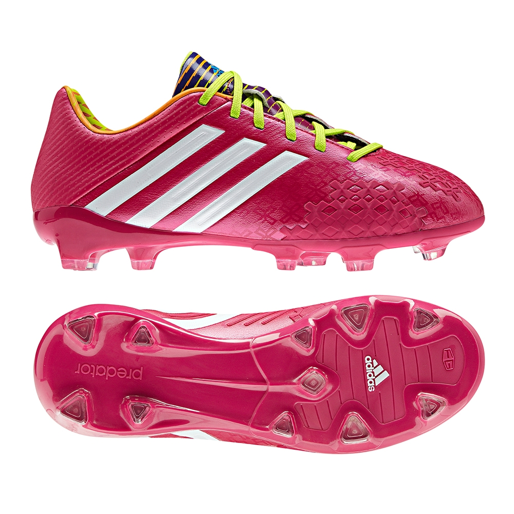 100% high quality cheap price really comfortable Adidas Predator LZ TRX FG Youth Soccer Cleats (Berry/White/Slime)