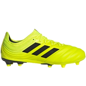 Adidas Youth Copa 19.1 FG Soccer Cleats (Solar Yellow/Core Black)