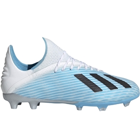 Adidas Youth X 19.1 FG Soccer Cleats (Bright Cyan/Core Black/Shock Pink)