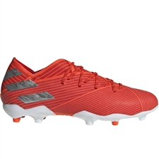 Adidas Nemeziz 19.1 Youth FG Soccer Cleats (Active Red/Silver Metallic/Solar Red) | Adidas F99955
