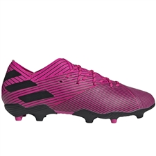 Adidas Youth Nemeziz 19.1 FG Soccer Cleats (Shock Pink/Core Black)