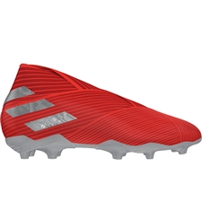 Adidas Nemeziz 19+ Youth FG Soccer Cleats (Active Red/Silver Metallic/Solar Red) | Adidas F99958