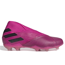 Adidas Youth Nemeziz 19+ FG Soccer Cleats (Shock Pink/Core Black) | Adidas F99959