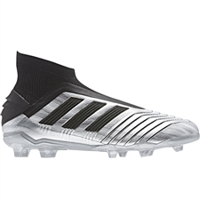 Adidas Predator 19+ Youth FG Soccer Cleats (Silver Metallic/Core Black/Hi-Res Red)