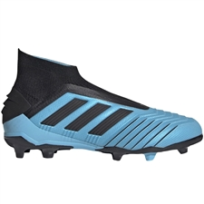 Adidas Youth Predator 19+ FG Soccer Cleats (Bright Cyan/Core Black/Solar Yellow)