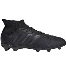 Adidas Predator 19.1 Youth FG Soccer Cleats (Core Black/Utility Black)