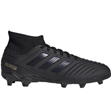 Adidas Predator 19.3 Youth FG Soccer Cleats (Core Black/Utility Black)