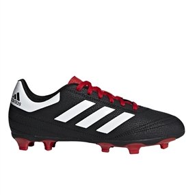 Adidas Youth Goletto VI FG Soccer Cleats (Core Black/White/Scarlet) | Adidas Soccer Cleats | FREE SHIPPING | Adidas G26367 |  SOCCERCORNER.COM