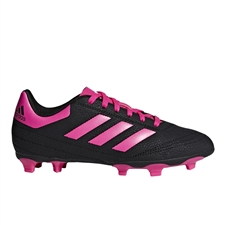 Adidas Youth Goletto VI FG Soccer Cleats (Core Black/Shock Pink/White) | Adidas Soccer Cleats | FREE SHIPPING | Adidas G26368 |  SOCCERCORNER.COM