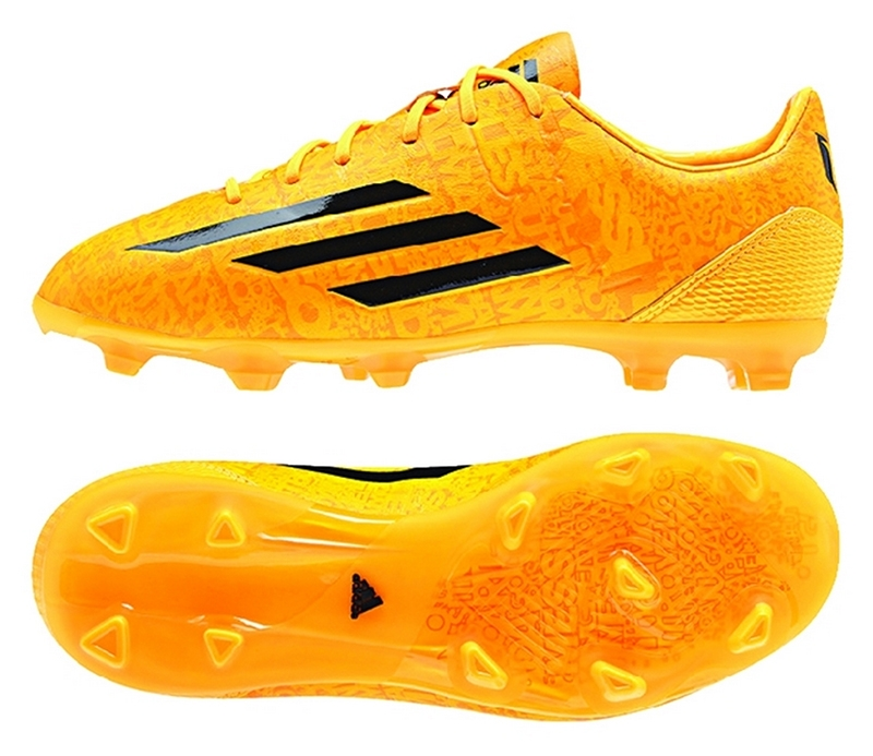 new styles 1e4a8 b2de2 Adidas F50 adizero-Messi (Synthetic) Youth TRX FG Soccer Cleats (Solar Gold