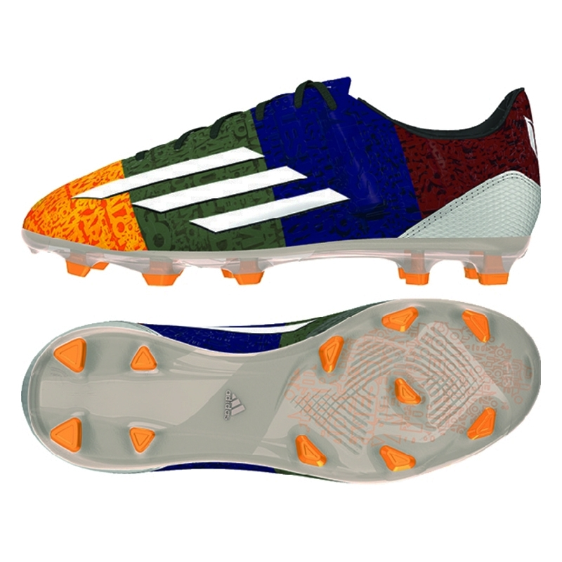 competitive price 76659 8fbdb Adidas F50 adizero Messi (Synthetic) Youth FG Soccer Cleats (Solar  Gold White