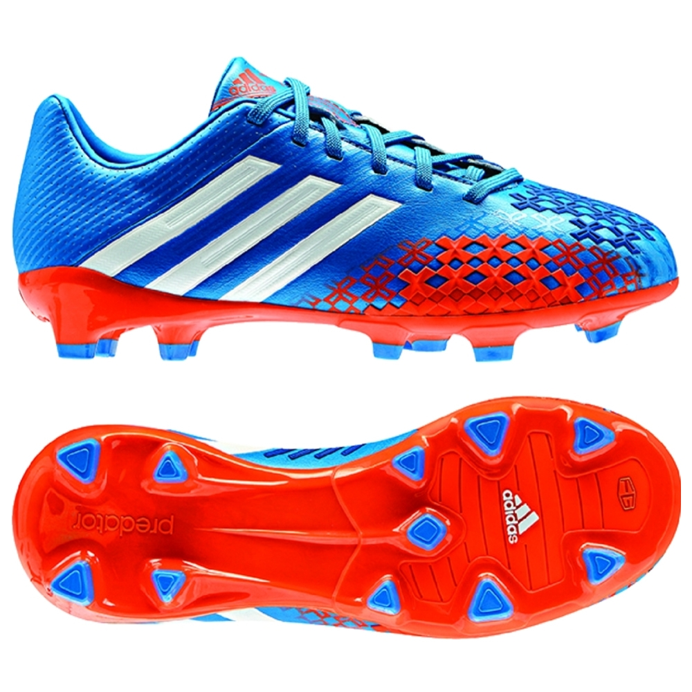9fac26cc45ce Adidas Predator LZ TRX FG Youth Soccer Cleats (Pride Blue Running  White Orange