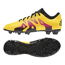 Adidas X 15.1 Youth FG/AG Soccer Cleats (Solar Gold/Black/Shock Pink) |  Adidas Soccer Cleats |FREE SHIPPING| Adidas S74615 |  SOCCERCORNER.COM