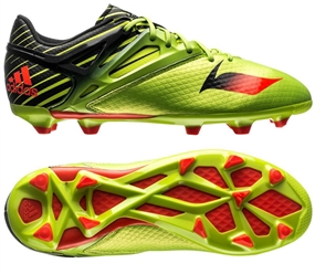 Adidas Messi 15.1 Youth FG/AG Soccer Cleats (Semi Solar Slime/Solar Red/Black) |  Adidas Soccer Cleats |FREE SHIPPING| Adidas S74687 |  SOCCERCORNER.COM