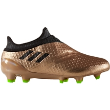 Adidas Messi 16+ Pureagility Youth FG Soccer Cleats (Copper Metallic/Core Black/Solar Green) | S76740