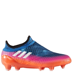 Adidas Messi 16+ Pureagility Youth FG Soccer Cleats (Blue/White/Black) | S76742