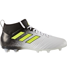 Adidas ACE 17.1 Primeknit Youth FG Soccer Cleats (White/Solar Yellow/Core Black) | Adidas S77039 |  SOCCERCORNER.COM