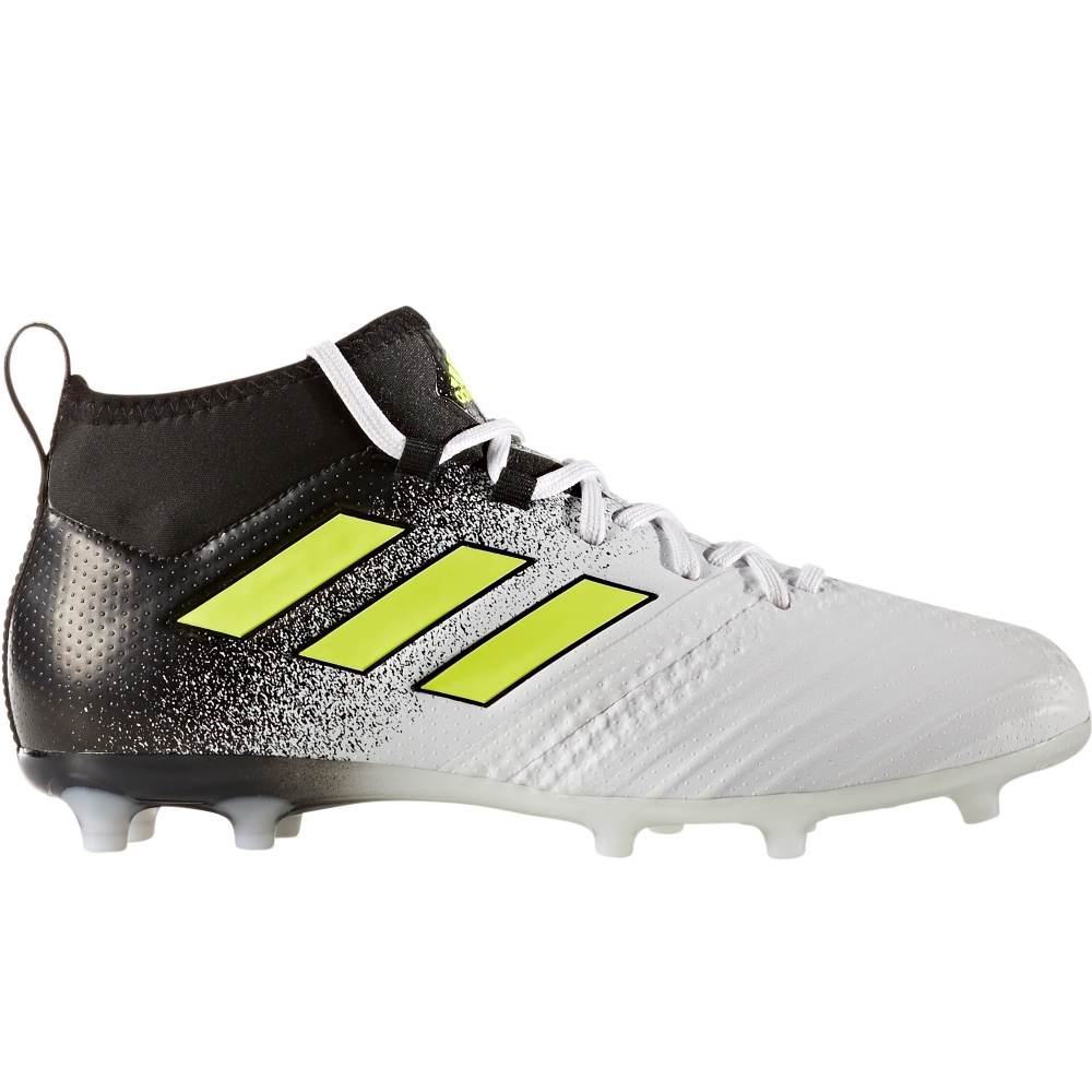 Adidas ACE 17.1 Primeknit Youth FG Soccer Cleats (White Solar Yellow Core  Black f20935fdb