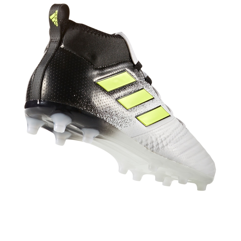 72e62e32ce57 Adidas ACE 17.1 Primeknit Youth FG Soccer Cleats (White/Solar Yellow/Core  Black)