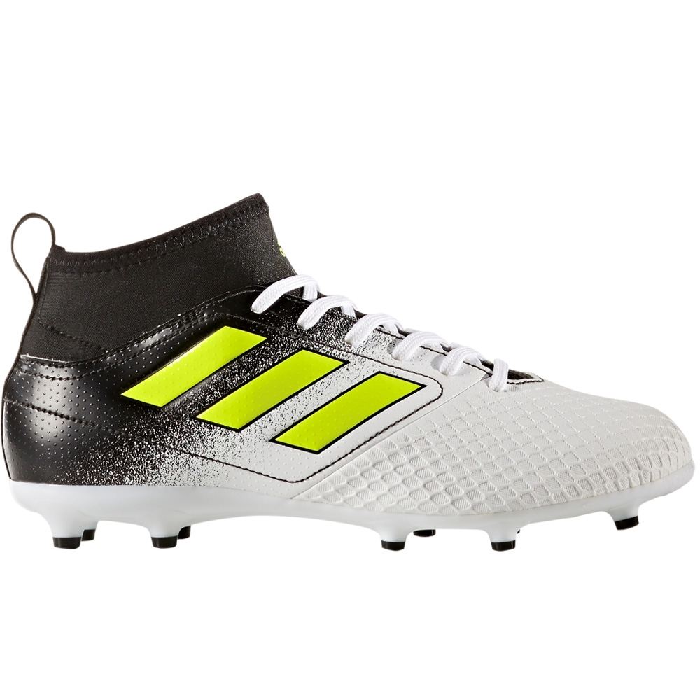 huge discount 4b390 fe6b6 Adidas ACE 17.3 Primemesh Youth FG Soccer Cleats (White Solar Yellow Core  Black