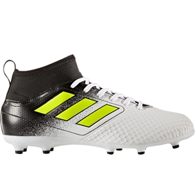 Adidas ACE 17.3 Primemesh Youth FG Soccer Cleats (White/Solar Yellow/Core Black) | Adidas Soccer Cleats |FREE SHIPPING| Adidas S77067 |  SOCCERCORNER.COM