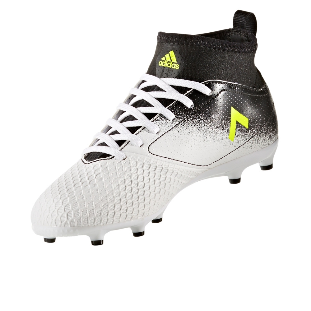 99507a6ac42f Adidas ACE 17.3 Primemesh Youth FG Soccer Cleats (White Solar Yellow ...