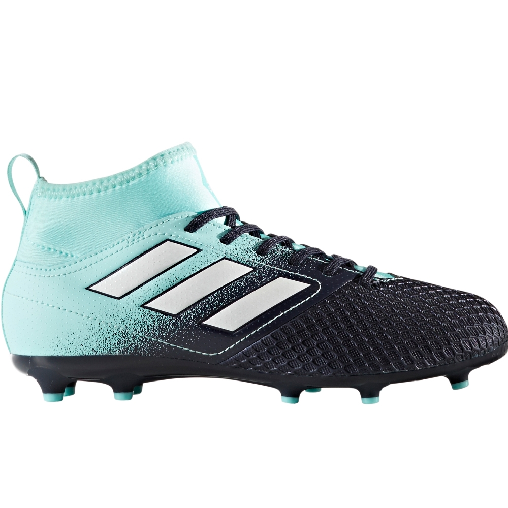 promo code bd57d 5182d Adidas ACE 17.3 Primemesh Youth FG Soccer Cleats (Energy Aqua White Legend  Ink