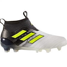 Adidas ACE 17+ Purecontrol Youth FG Soccer Cleats (White/Solar Yellow/Core Black) |  Adidas Soccer Cleats |FREE SHIPPING| Adidas S77171 |  SOCCERCORNER.COM
