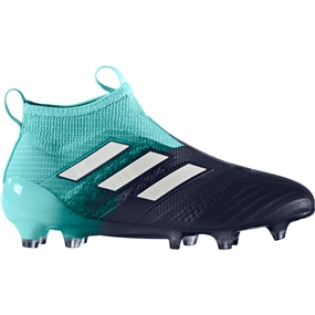 Adidas ACE 17+ Purecontrol Youth FG Soccer Cleats (Energy Aqua/White/Legend Ink) | Adidas Soccer Cleats | FREE SHIPPING | Adidas S77173 |  SOCCERCORNER.COM